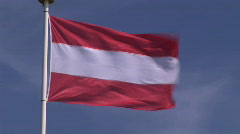 Austrian Flag in the Wind Stock Footage