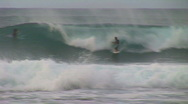 Stock Video Footage of Surfer sprays a wave HQ