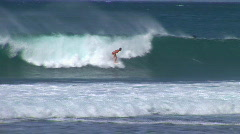 Surfer snaps in barrel HQ 001 Stock Footage