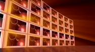 Flat screen TV News Wall Stock Footage
