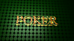 Poker Sign Stock Footage