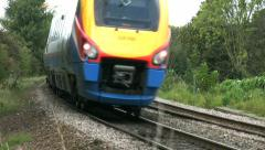 Passenger railway train in Leicestershire England Stock Footage