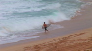 Stock Video Footage of Surfer going surfing HQ