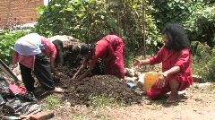 Agroculturalist teaches Composting Stock Footage