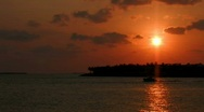 Stock Video Footage of Boat in Key West Gulf at sunset