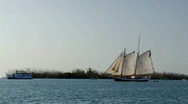 Stock Video Footage of Schooner in Key West, Florida gulf