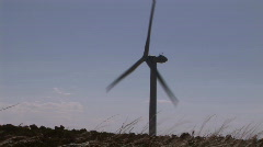 Wind Tubine in Motion Stock Footage