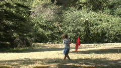 Little boy in summer park Stock Footage