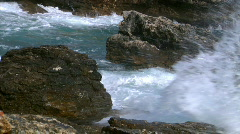 Big rough coastal waves  audio Stock Footage