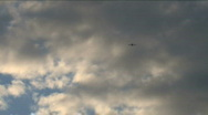 Stock Video Footage of Small Aircraft Flying In Distance