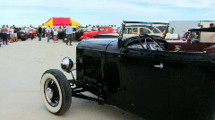 Old Black Car  Stock Footage