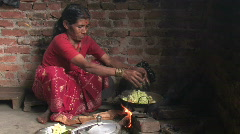Woman Cooks Stock Footage