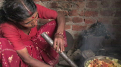 Woman Cooks Meal - stock footage