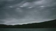 Spooky sky. Timelapse shot. Stock Footage