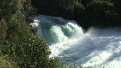 Huka Falls and Waikato River in New Zealand Stock Footage
