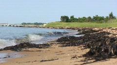 Ocean Waves on Fire Island National Seashore Beach Stock Footage