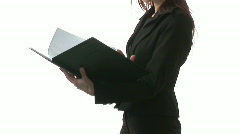 Businesswoman with Document Stock Footage