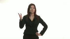 Studio shot of Business woman - stock footage