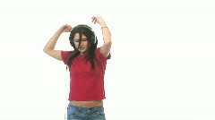 A Woman Dancing Stock Footage