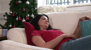 Woman with Christmas Presents Stock Footage