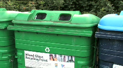 Recycling At The Bottle Bank Stock Footage