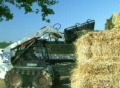 Farmer Loading Hay SD Footage