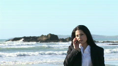 Business Woman working outdoors - stock footage