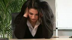 Businesswoman Under Stress - stock footage
