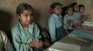 Stock Video Footage of Nepal: Young students clap and recite