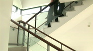 Business Discussion on Stairs Stock Footage