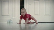 Baby at Home Series - Crawling and Exploring Stock Footage