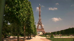 The Eiffel Tower on a Hot Sunny Day Stock Footage