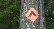 Stock Video Footage of Campsite marker.