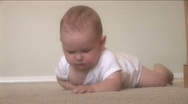 Stock Video Footage of Baby at Home Series - Crawling and Exploring