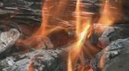 Wood fire. Closeup. Stock Footage