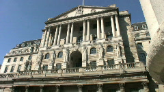 Bank of England in Threadneedle Street in London England UK Stock Footage