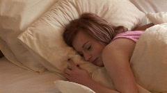 Woman Sleeping Stock Footage