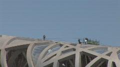 Birds Nest Stadium construction Stock Footage