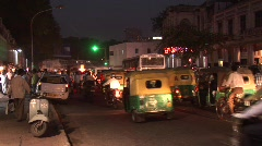 Delhi Traffic (night) 1 Stock Footage