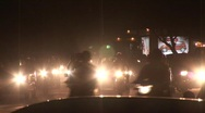 Delhi Traffic (night) 3 Stock Footage