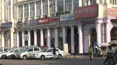 Delhi Shopping Street Stock Footage