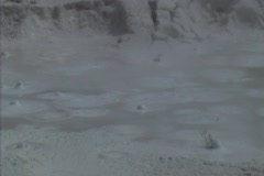 Bubbling mud Stock Footage
