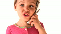 Child phone Stock Footage