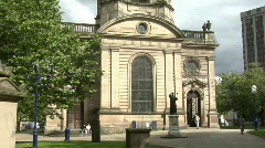 St Philip's Cathedral Birmingham Stock Footage