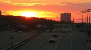 Stock Video Footage of Sunset traffic time lapse 4