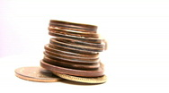 Rotating coins Stock Footage