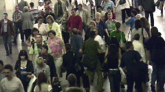 Crowd subway Stock Footage