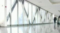 Business people in corridor 2 Stock Footage