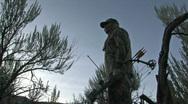 Deer Hunter Archery sunset bow arrow hunt M HD Stock Footage