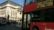Stock Video Footage of Traffic and tourists in Piccadilly Circus London England UK